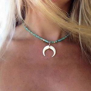 💕Vintage resin horn shaped necklace